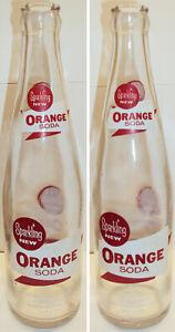 1959 Coca Cola New Sparkling Orange Soda Laminated Label Bottle Scarce