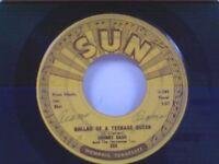 """JOHNNY CASH """"BALLAD OF A TEENAGE QUEEN / BIG RIVER"""" 45"""