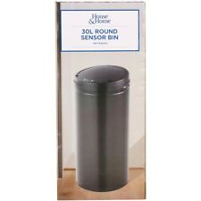 House & Home Matte Sensor Bin - Black