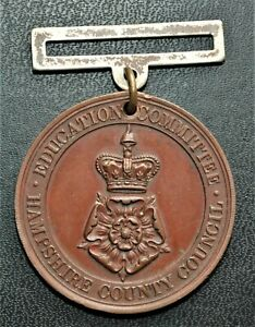 Hampshire County Education Committee Perfect Attendance Medal, 39mm