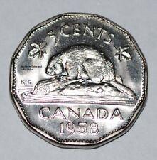 Canada 1958 5 cents BU Nice UNC Five Cents Canadian Nickel