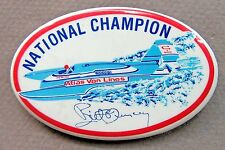 1979 ATLAS VAN LINES BILL MUNCEY oval pinback button Hydroplane Boat racing