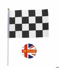 More details for 1 - 100 pieces chequered race car grand prix  flag small flags handheld party