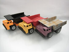 Diecast Matchbox Lot of 3 Dump Truck 1989 China Good Condition