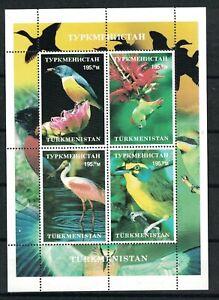 Turkmenistan Birds. Souvenir Sheet Of 4. MNH. OG.  #02 TURKMEN