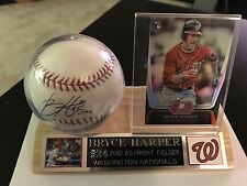 Bryce Harper Autographed Baseball With COA And Rookie Card