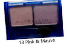 MAYBELLINE EXPERTWEAR DUO EYESHADOW SHADE 18 PINK & MAUVE NEW