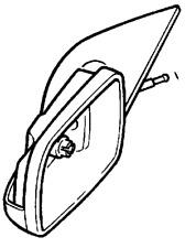 VAUXHALL REAR VIEW MIRROR - GENUINE NEW - 9142143