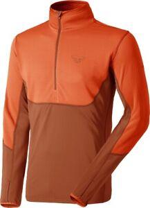 NEW Dynafit TLT Half-Zip Orange Mens Large Ski Fleece Layer Coat Jacket Msrp$120