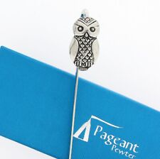 More details for owl silver pewter bookmark with gift box