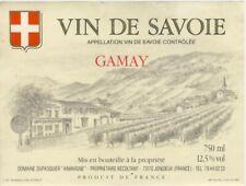 Ancienne Etiquette Vin de SAVOIE Cru GAMAY JONGIEUX AOC Dupasquier