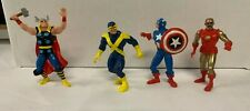 Non Possible Marvel Comic Book Action Figure Lot Thor Iron Man Cyclops Loose