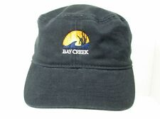 Bay Creek Cadet/Military Style Hat Black One Size Adjustable By Ahead Head Gear