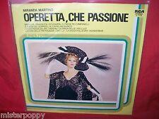 MIRANDA MARTINO Operetta che passione LP 1981 ITALY MINT- PROMO Label Bianca
