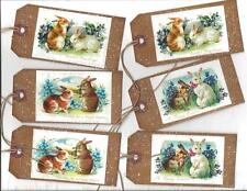12 PRIMITIVE TAGS~Sweet Easter!~HANG TAGS~HAPPY EASTER!