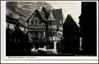 Bacharach Rheinland Pfalz AK ~1935/40 Partie am Gasthaus Altes Haus ungelaufen