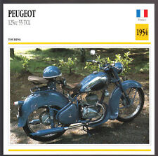 1954 Peugeot 125cc Type 55 TCL Motorcycle Photo Spec Sheet Info Stat Atlas Card