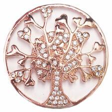 Magnet Brosche für Schal Poncho Taschen Strass Steine Anstecker Baum Gold