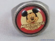 70s  MICKEY MOUSE CLUB SILVER RING walt DISNEY gumball Disneyana vintage old usa