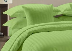 Sage Striped Deep Pocket Bed Sheet Set 1000 Count 100% Egyptian Cotton Sheet
