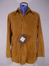 NWT SCHIATTI giacca uomo SAHARIANA pelle AGNELLO jacket P/E tg. 52(IT) 42(US)