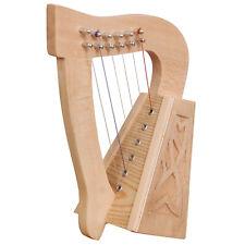 O'carolan harp, 6 strings lacewood knotwork, Celtic Irish Harp
