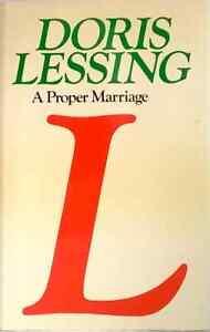 A Proper Marriage Doris Lessing Children of Violence Book 2 dust jacket hardback