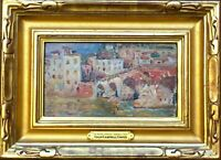"""COLIN CAMPBELL COOPER NA LISTED """"St Peter's Bridge""""  Oil on Bd Provenance!!"""
