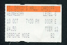 Depeche Mode 1984 concert ticket stub Cardiff Wales UK Some Great Reward