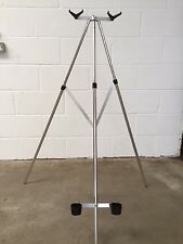 Sea Fishing Beach Rod Tripod Rest 3/6 ft for 2 Rods / Reels  WITH STEADY BAR
