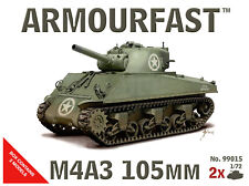 armourfast, 99015, Sherman M4A3 105mm  (x2) ,US Army tank, model kit, scale 1:72