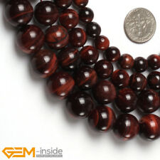 """Natural Round Red Tiger's Eye Gemstone Beads For Jewelry Making 15"""" Wholesale AU"""