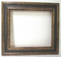 VINTAGE DISTRESSED GOLD / BLACK  FRAME FOR PAINTING 16 X 14  INCH