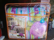 3 Piece Reversible Comforter Set Size Twin new turtle stuffed animal