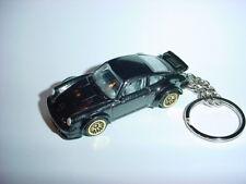 HOT 3D PORSCHE 934 Turbo RSR CUSTOM KEYCHAIN keyring key racing black finish