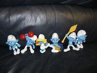 2011 Schleich Peyo Smurfs Figures Set of 6 Smurfs Smurfette