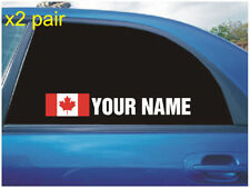 Name Front Car Exterior Styling Decals
