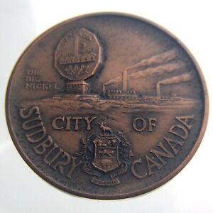 Laurentian University Big Nickel Medal Sudbury Canada Lombardo Mint Bronze T423