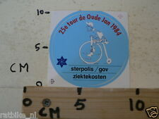 STICKER,DECAL 25E TOUR DE OUDE JAN 1984 STERPOLIS/GOV ZIEKTEKOSTEN