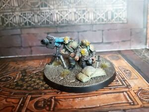 Renegade Militia missile launcher conversion rare painted Warhammer 40k Chaos