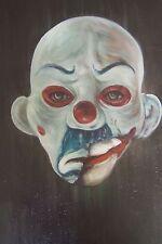 Joker Cavaliere Oscuro 20x14 pittura ad olio, telaio DISP. minifig BATMAN MASCHERA CLOWN