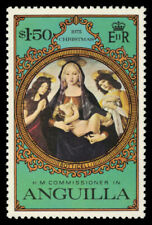 """ANGUILLA 228 (SG221) - """"Virgin and Child"""" by Botticelli (pa44550)"""