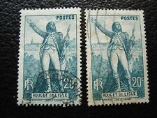 FRANCE - timbre yvert et tellier n° 314 x2 obl (L1) stamp french