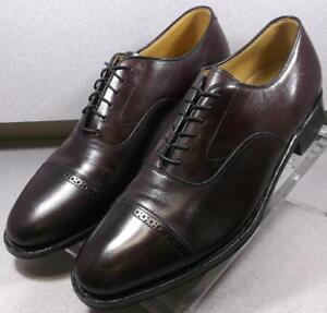 2408565 MS50 Men's Shoes Size 9 E/C Burgundy Leather Lace Up Johnston & Murphy