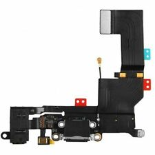 Black Headphone Audio Dock Connector Charging Data USB Port Flex Cable iPhone 5S