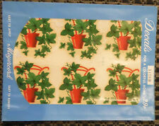 Vintage Meyercord Decals X126B Red pot with Green Leaves 6 Decals on Sheet
