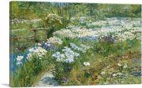 ARTCANVAS The Water Garden 1909 Canvas Art Print by Childe Hassam