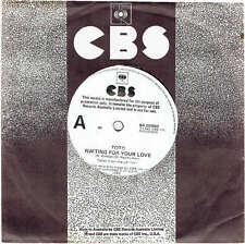"""TOTO - WAITING FOR YOUR LOVE - RARE 7"""" 45 PROMO VINYL RECORD - 1982"""