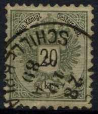 Austria 1863-4 SG#74d 20k grigio verdastro P10.5 Usato Cat £ 450 #D60472