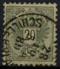 Austria 1863-4 SG#74d 20k Greenish Grey P10.5 Used Cat £450 #D60472